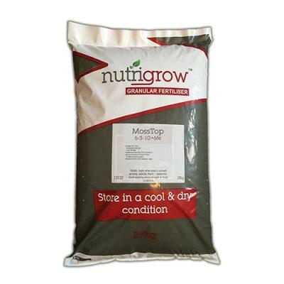 Nutrigrow 6-5-10+FE MossTop Fertiliser 25kg