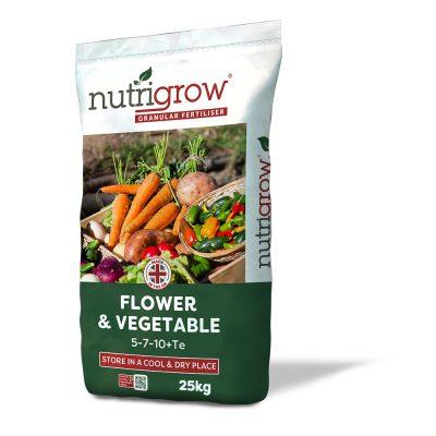 Nutrigrow 5-7-10+TE Flower & Vegetable Fertiliser 25kg