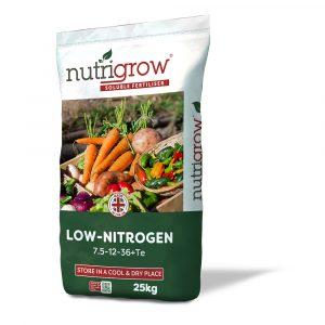 Nutrigrow Low Nitrogen Low-N Soluble Fertiliser - 7.5-12-36+Te - 25kg